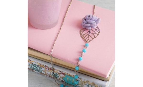 Felt Flower 3-D Necklace using Bigz die