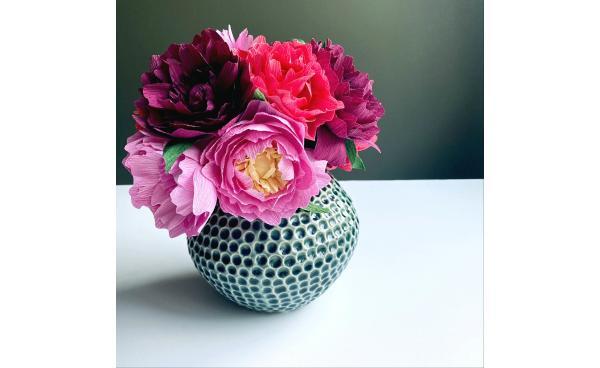 Crepe Paper Peony Bouquet