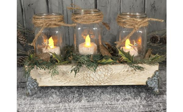 Wintry Table Decor using Tim Holtz designs! by Tamera Bastiaans