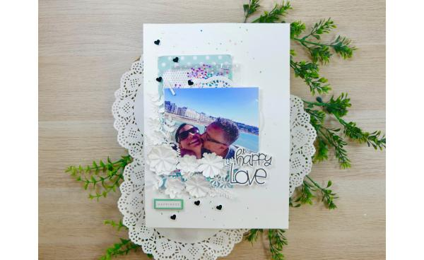 How to make a summer scrapbooking layout (VIDEO)