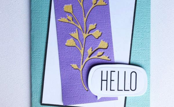 Layered 'Hello' Card