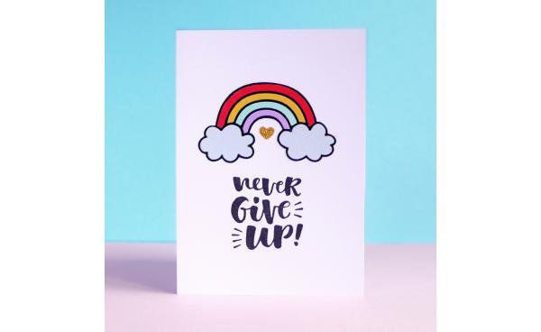 Easy Rainbow greeting card