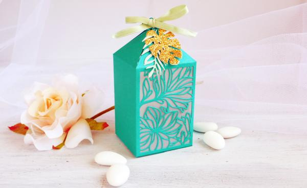 DIY Elegant Teal Favor Box - VIDEO