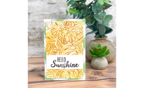 Hello sunshine card (VIDEO)