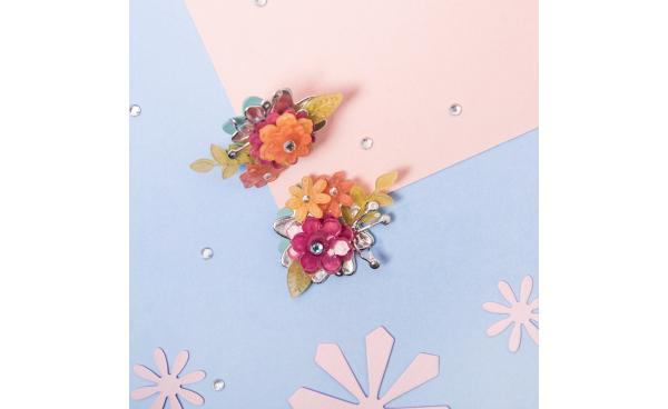 Flower earrings using shrink plastic