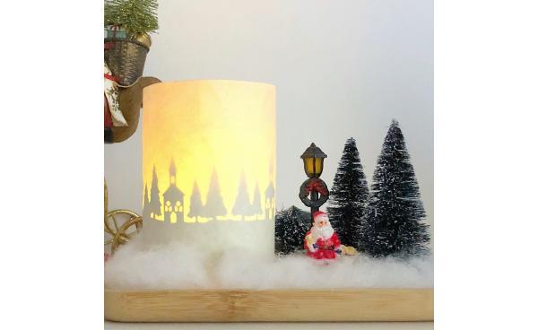 Christmas decor candle (VIDEO)